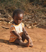 African little girl — Stock Photo