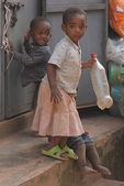 African children living in a poor village near Mbarara — Stock Photo