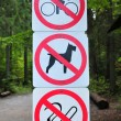 Stock Photo: Prohibition signs
