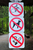 Prohibition signs — Stock Photo
