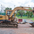 Stock Photo: Excavator or Backhoe