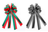 Satin gift bow. ribbon isolated on white — Zdjęcie stockowe