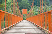Orange Rope bridge — Stock Photo