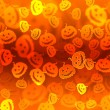 Pumpkin bokeh Halloween background — Stock Photo
