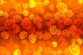 Pumpkin bokeh Halloween background — Stock Photo