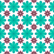 Blue flower pattern background — 图库照片