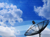 Satellite disc in blue sky — Stock Photo