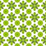 Green leaf flower pattern background — Stock Photo #13435288