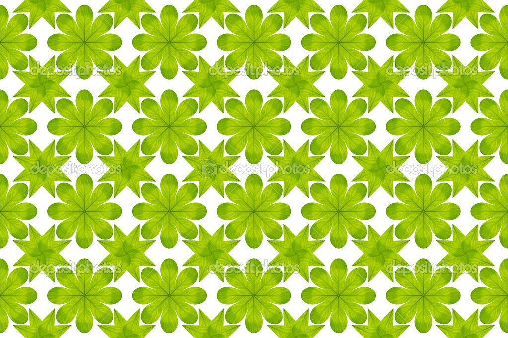 Green leaf flower pattern background — Stock Photo #13435844