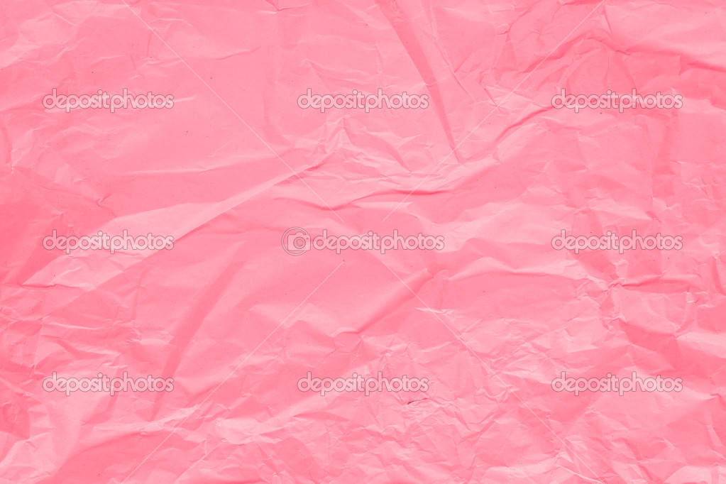 Textura De Papel Arrugado Rosa Para El Fondo