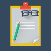 Note paper, vector format — Stock Vector