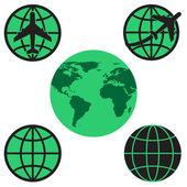 World globe, vector format : credit NASA — Stock Vector