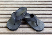 Black slipper — Stock Photo