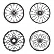 Bicycle wheels isolated on white background, vector format — Stock Vector #44532345