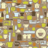 Mutfak araçları seamless modeli retro renk, vektör formatında — Stok Vektör