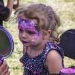 Stock Photo: Young girl with her face painted like a princess