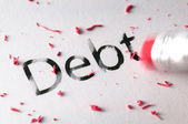 Erasing Debt — Stock Photo