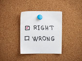 Right and Wrong — Foto Stock
