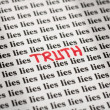 Stock Photo: Truth in Lies