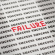 Failure in success — Stock Photo