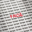 False in true — Foto Stock