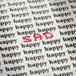 Royalty-Free Stock Photo: Sad in happy