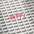 Royalty-Free Stock Photo: Happy in sad