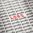 Stock Photo: Loss in profit