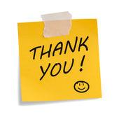 Nota de agradecimento — Foto Stock