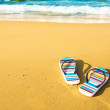Beach sandals - Stock Photo