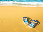 Beach sandals — Stock Photo