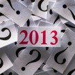 Foto Stock: What will happen in 2013
