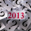 What will happen in 2013 — Stock Photo