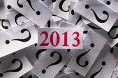 在 2013 年将会发生什么 — 图库照片