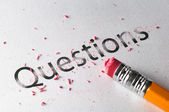 Erasing Questions — Stock Photo