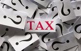 Fragen über die steuer — Stockfoto