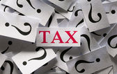 Questions about the Tax — Stock Photo