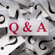 Questions & Answers — Stock Photo