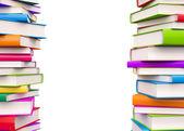 Libri colorati con spazio copia — Foto Stock