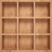 Empty wood shelf — Stock Photo