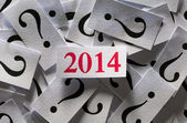 What will happen in 2014 — Stock Photo