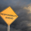 Responsibility Ahead — Stock Photo
