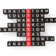 Strategy crossword concept  — Foto de Stock