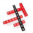 Depression crossword concept — Stock Photo