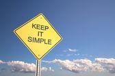 Houd het eenvoudig — Stockfoto