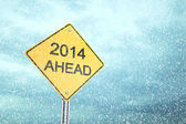 2014 Ahead — Stock Photo