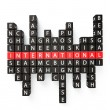 Multilingual crossword concept — Stock Photo