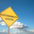 Sustainability Ahead — 图库照片