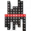 Team Work crossword concept — Stock Photo