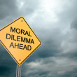 Stock Photo: Moral DilemmAhead